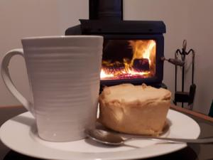 Relax by the fire in the colder months.